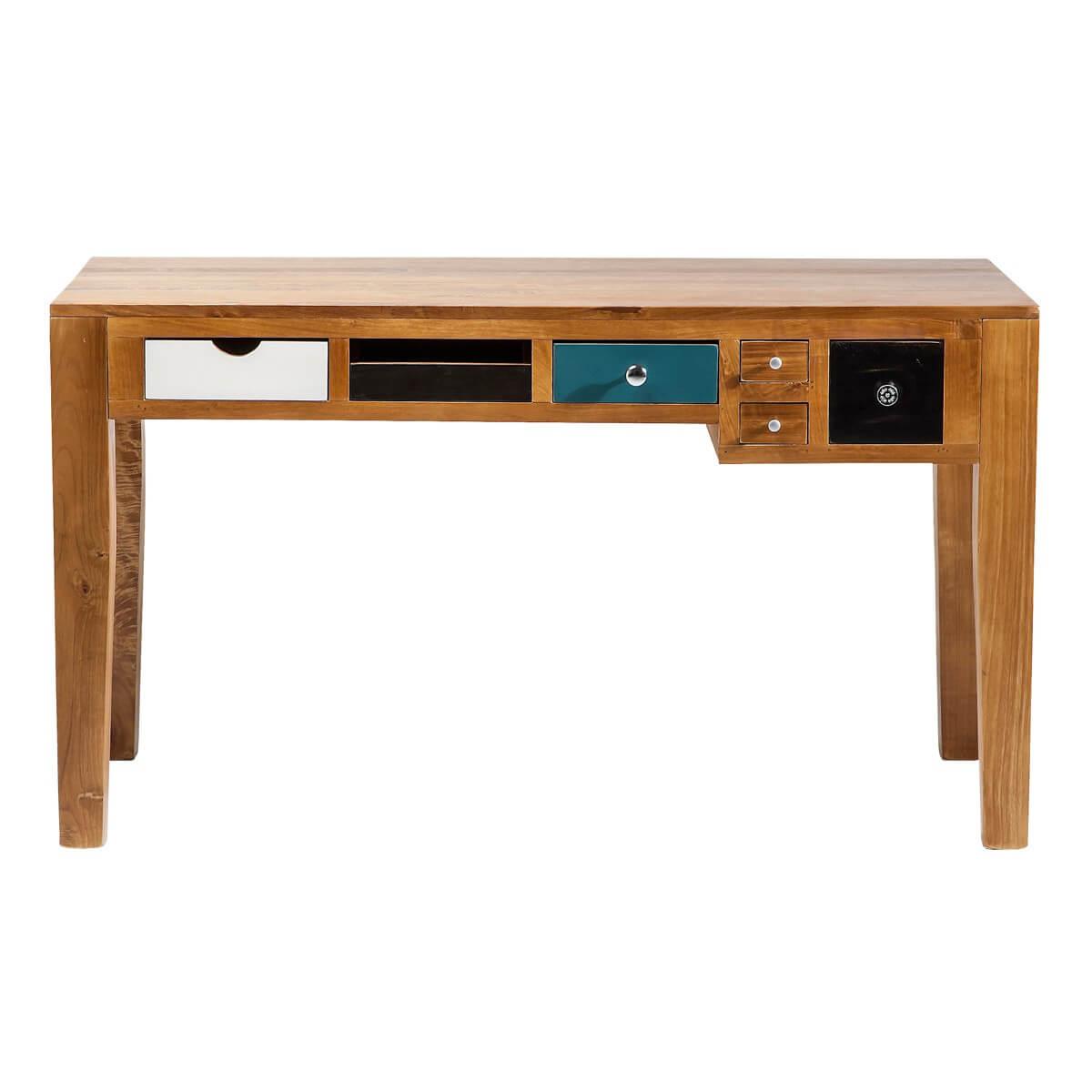 schreibtisch b rotisch computertisch kare design babalou braun bunt neu ebay. Black Bedroom Furniture Sets. Home Design Ideas