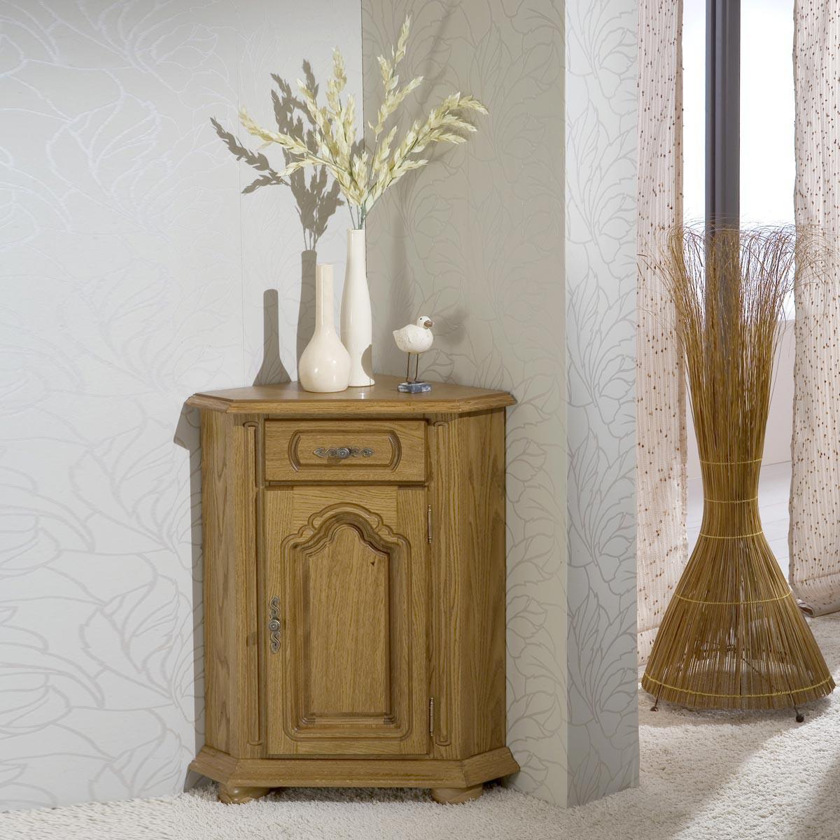 eckkommode bonita in eiche rustikal. Black Bedroom Furniture Sets. Home Design Ideas