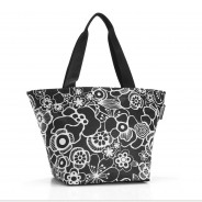 Reisenthel Shopper M in Fleur Black