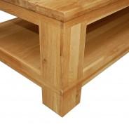 couchtisch wohnzimmertisch stubentisch tisch mit ablage wildeiche massiv neu ebay. Black Bedroom Furniture Sets. Home Design Ideas