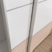 kleiderschrank schrank schwebet renschrank match in ahorn wei ebay. Black Bedroom Furniture Sets. Home Design Ideas