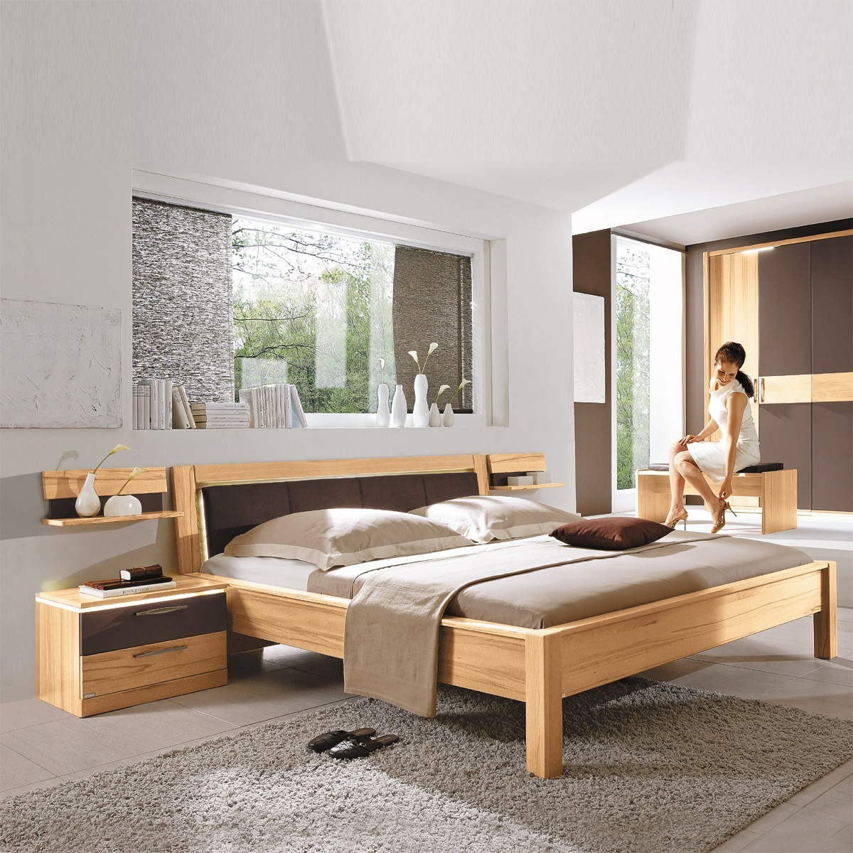 futonbett bett chorus 180x200cm kernbuche teilmassiv. Black Bedroom Furniture Sets. Home Design Ideas