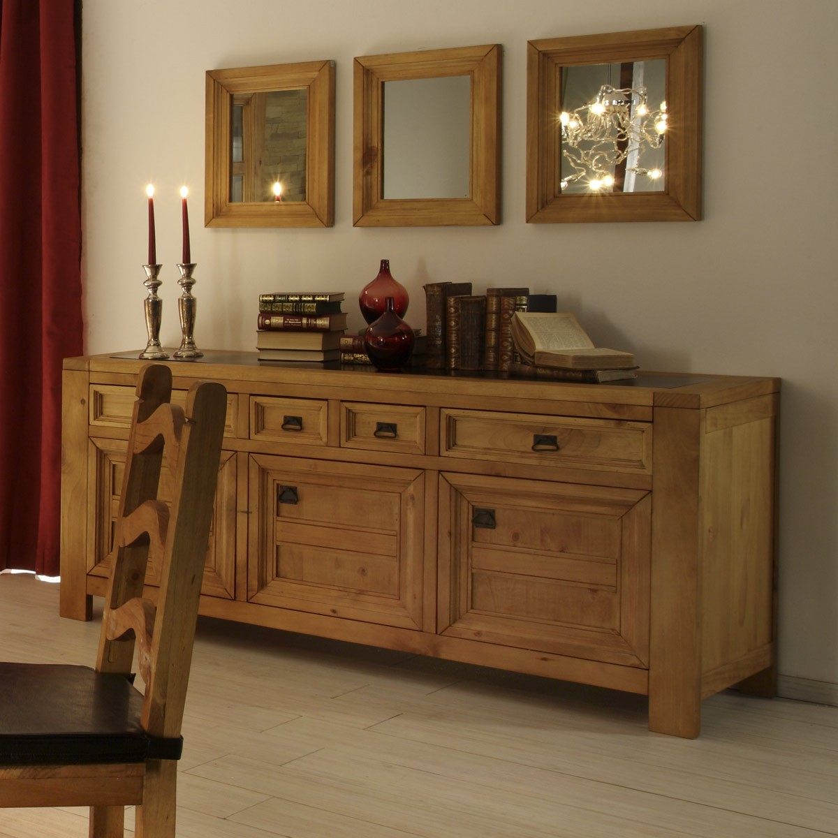 sideboard morelia 3 trg in pinie massivholz ge lt. Black Bedroom Furniture Sets. Home Design Ideas