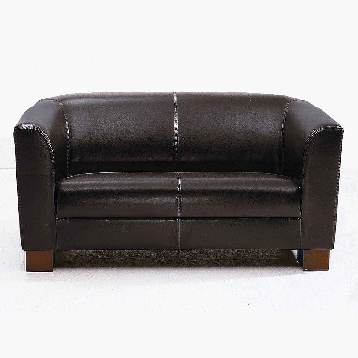 Sofa Benton 2 Sitzer In Kunstleder Antikbraun M Bel Ideal Online Shop