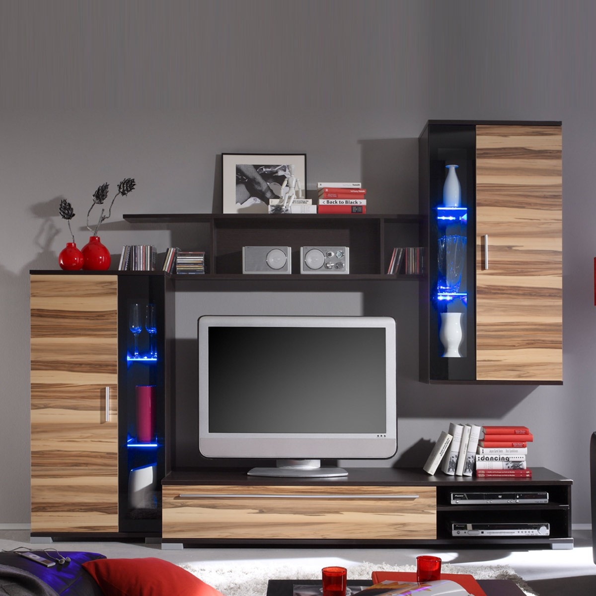 wohnwand samba in wenge baltimore walnu ebay. Black Bedroom Furniture Sets. Home Design Ideas