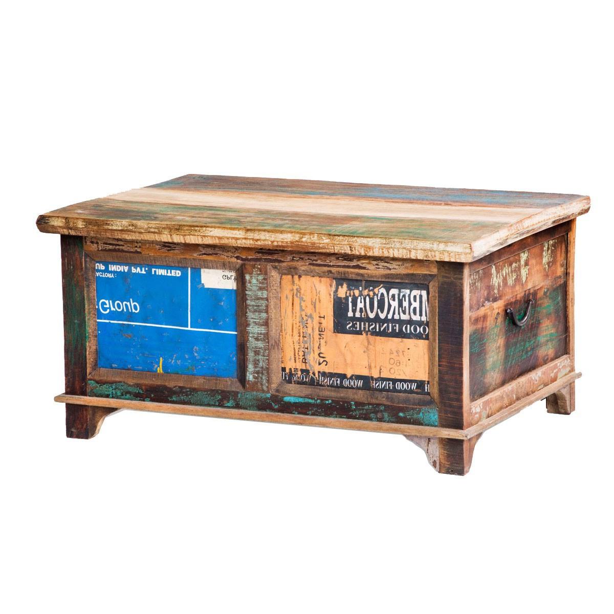 truhe m rsta aus recycling teak holz. Black Bedroom Furniture Sets. Home Design Ideas