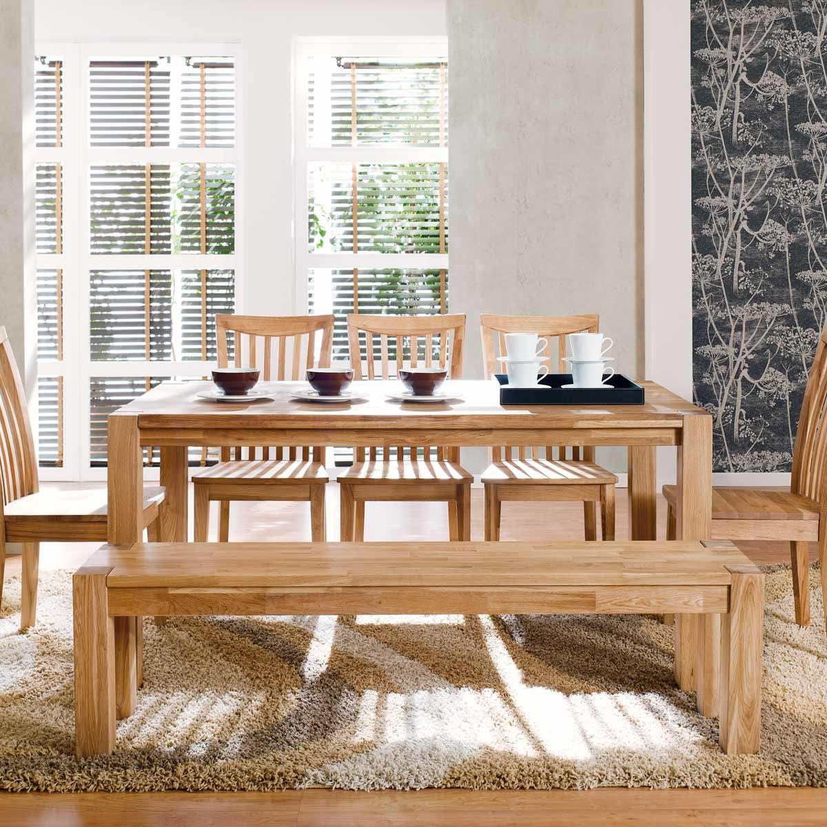 sitzbank bank holzbank in eiche massiv natur geoelt neu ebay. Black Bedroom Furniture Sets. Home Design Ideas