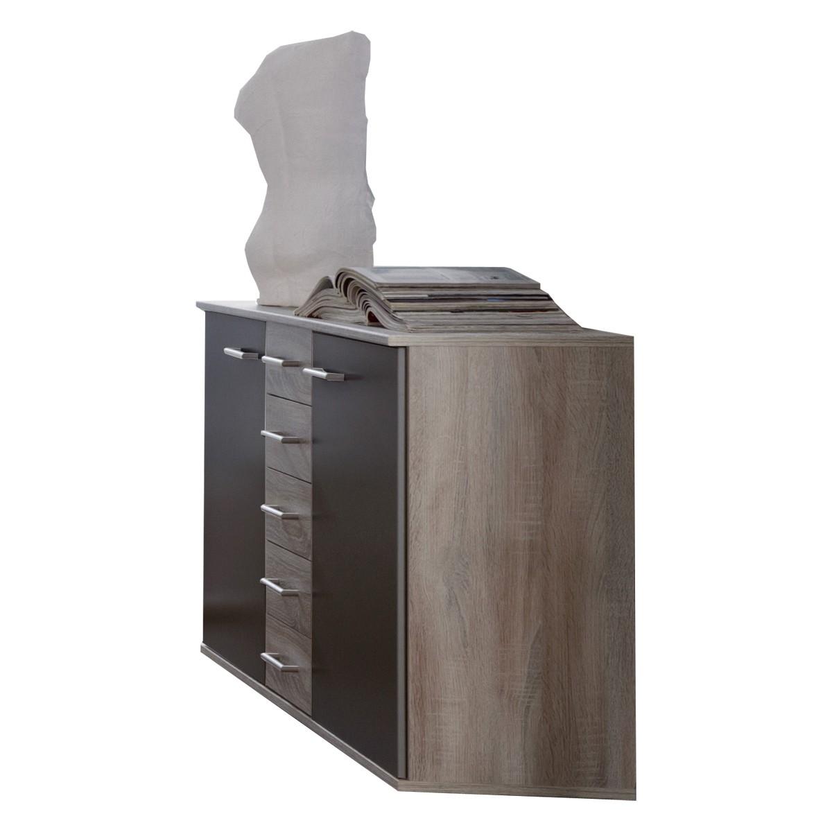 sideboard kommode kombikommode anrichte montana eiche und lava ebay. Black Bedroom Furniture Sets. Home Design Ideas