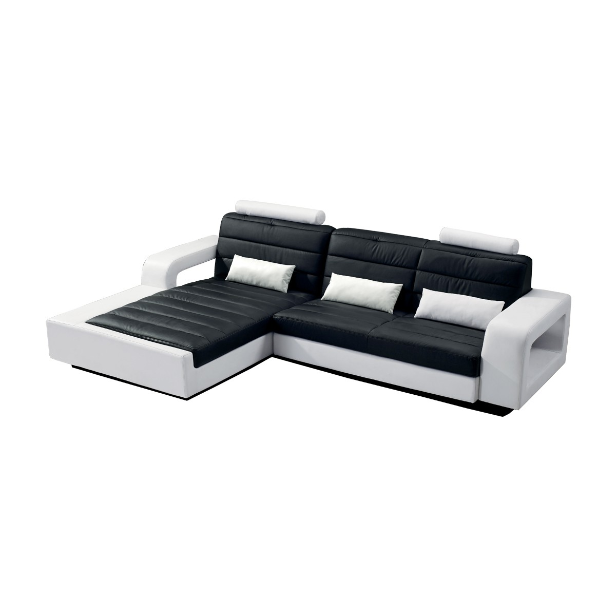 ecksofa sofa spitzecke joll nd in kunstleder schwarz wei neu ebay. Black Bedroom Furniture Sets. Home Design Ideas