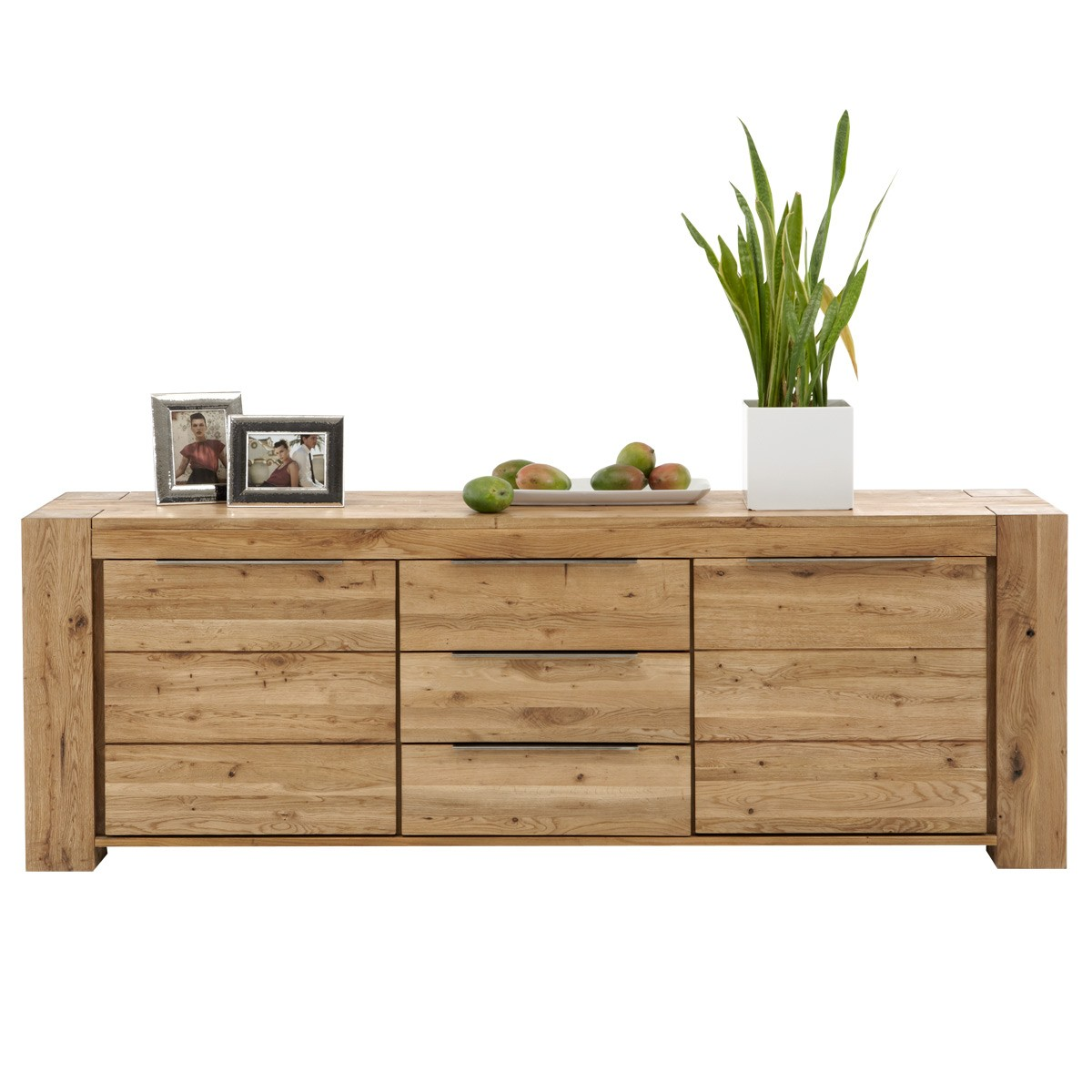 sideboard kommode anrichte t ren schubladen wildeiche massiv ge lt neu ebay. Black Bedroom Furniture Sets. Home Design Ideas