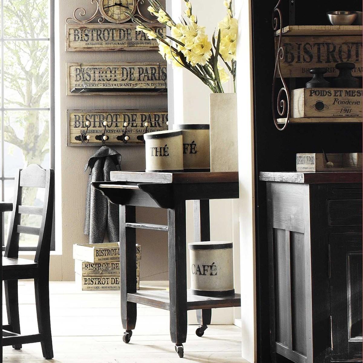 servierwagen k che wagen cleo massiv mit 4 rollen ebay. Black Bedroom Furniture Sets. Home Design Ideas