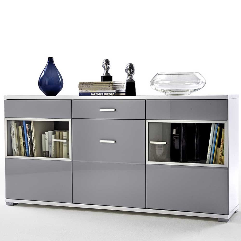 sideboard anrichte kommode schrank pearl in wei. Black Bedroom Furniture Sets. Home Design Ideas