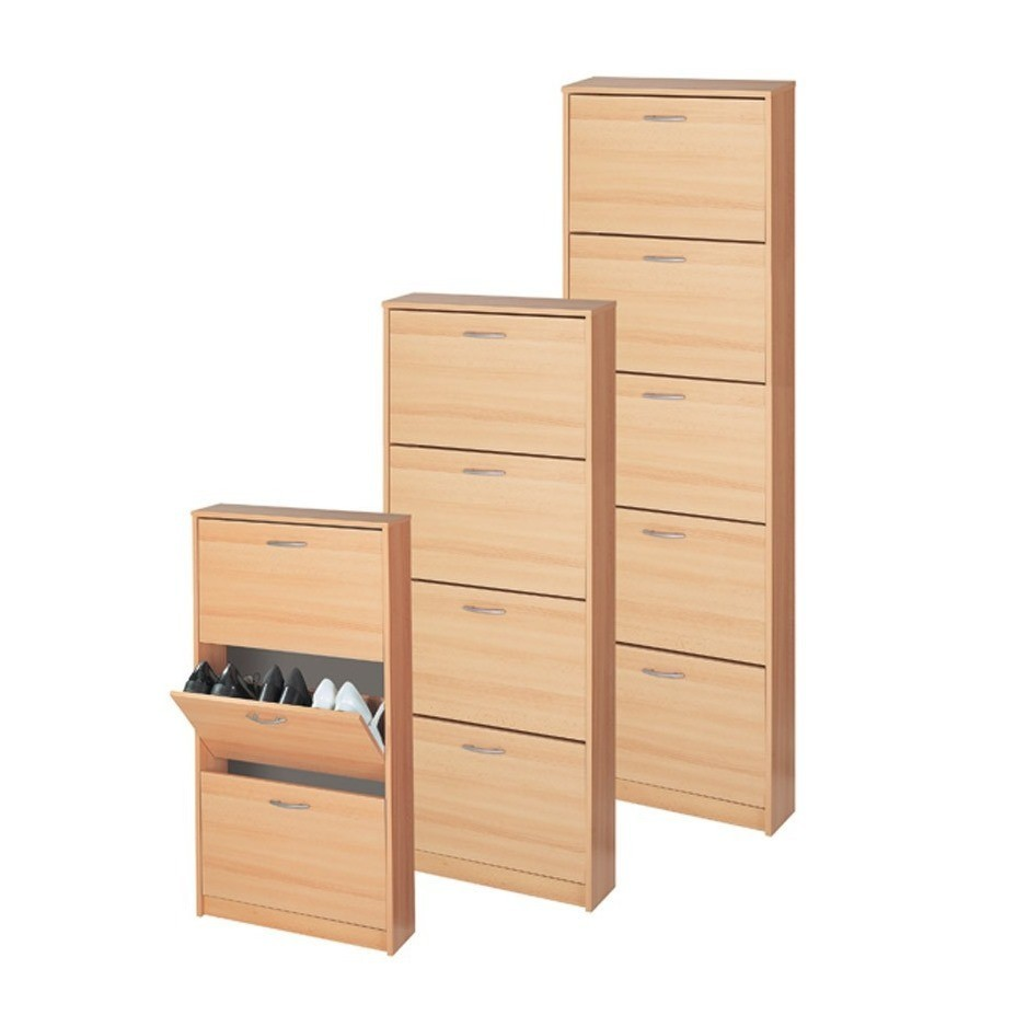 schuhkipper schuhschrank schuhregal mit 5 klappen in buche ebay. Black Bedroom Furniture Sets. Home Design Ideas