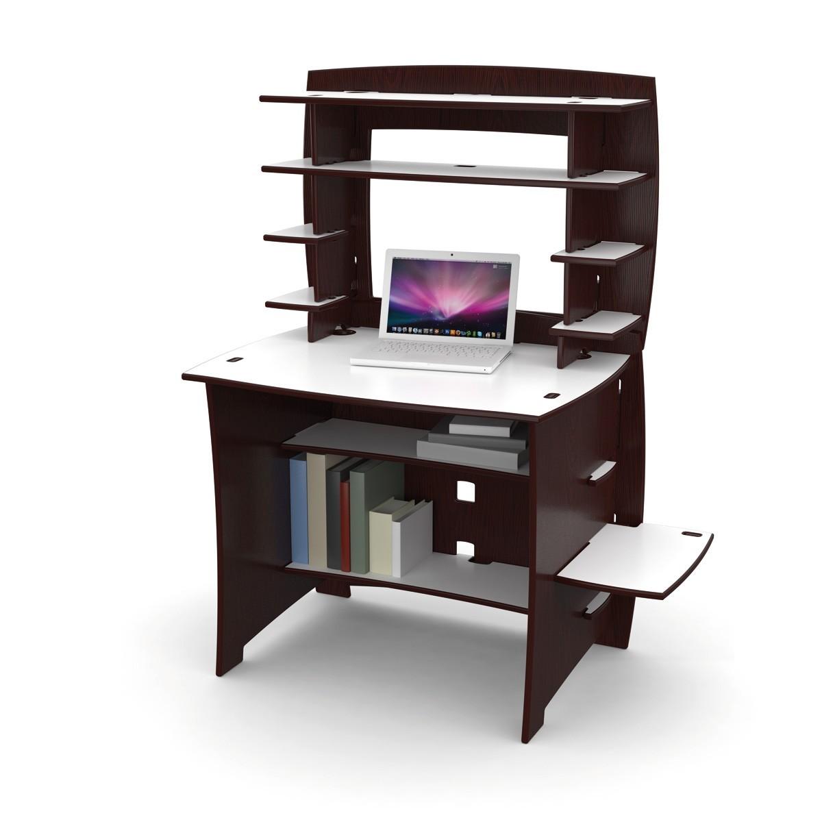 computertisch mit aufsatz