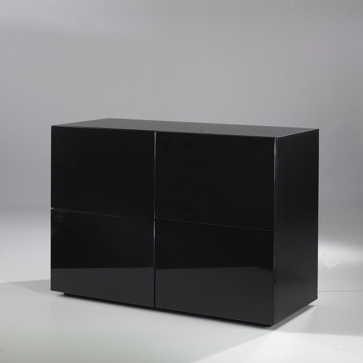 kommode hochglanz schwarz kommode valdragon in schwarz. Black Bedroom Furniture Sets. Home Design Ideas