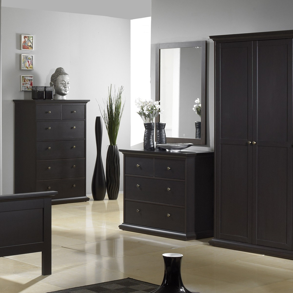 kleiderschrank schrank schlafzimmer venedig in braun holz teilmassiv ebay. Black Bedroom Furniture Sets. Home Design Ideas
