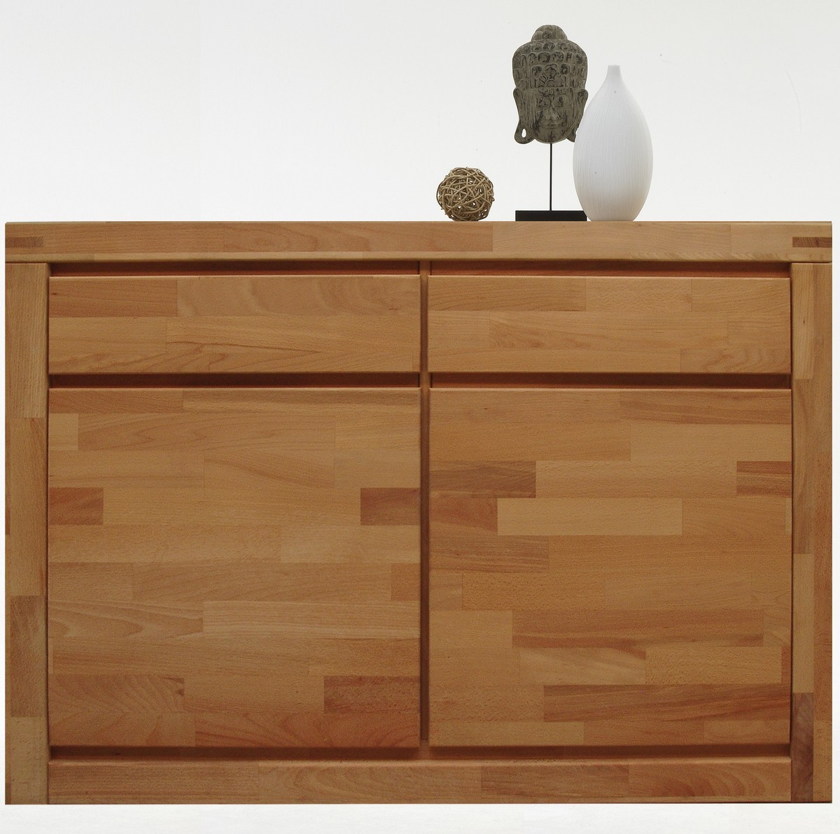 kommode sideboard schrank fjord 2trg mit kernbuche massiv ge lt ebay. Black Bedroom Furniture Sets. Home Design Ideas