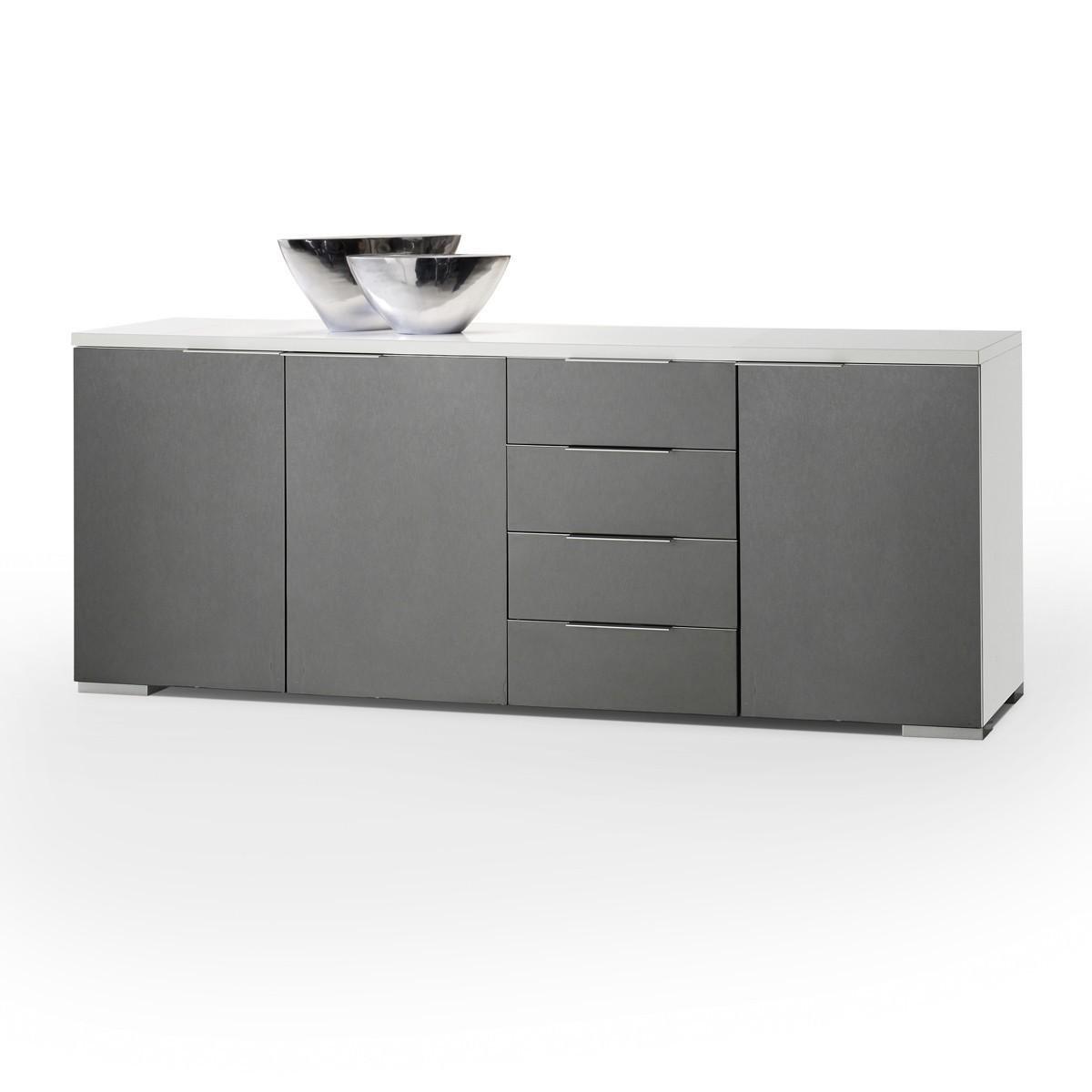 Grau wei sideboard haus design m bel ideen und for Sideboard flach