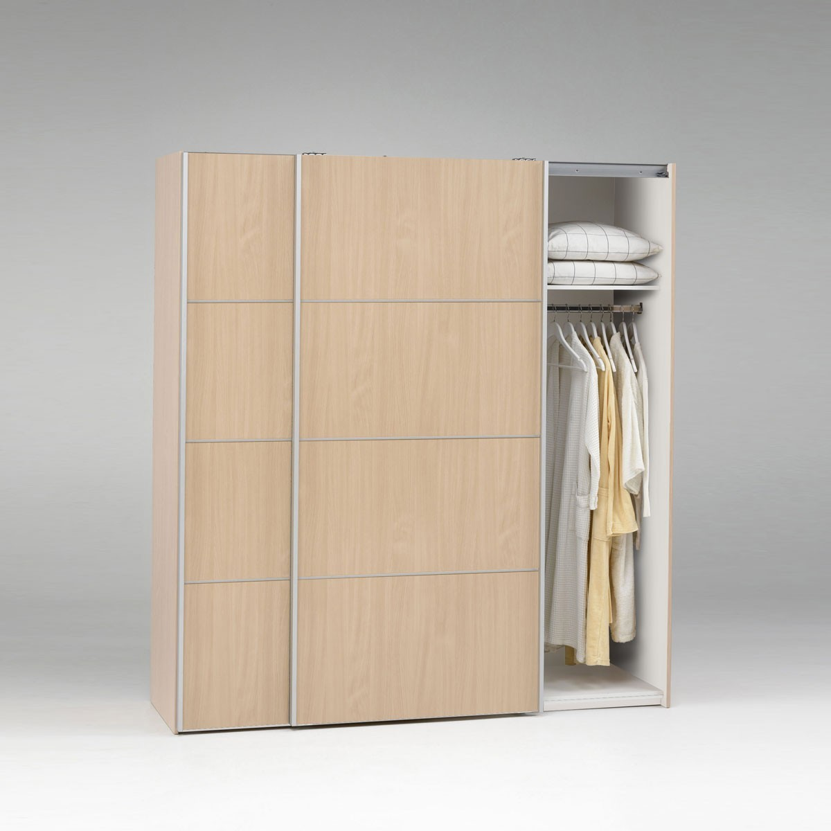 kleiderschrank schrank schwebet renschrank match in ahorn 180 x 200 cm ebay. Black Bedroom Furniture Sets. Home Design Ideas