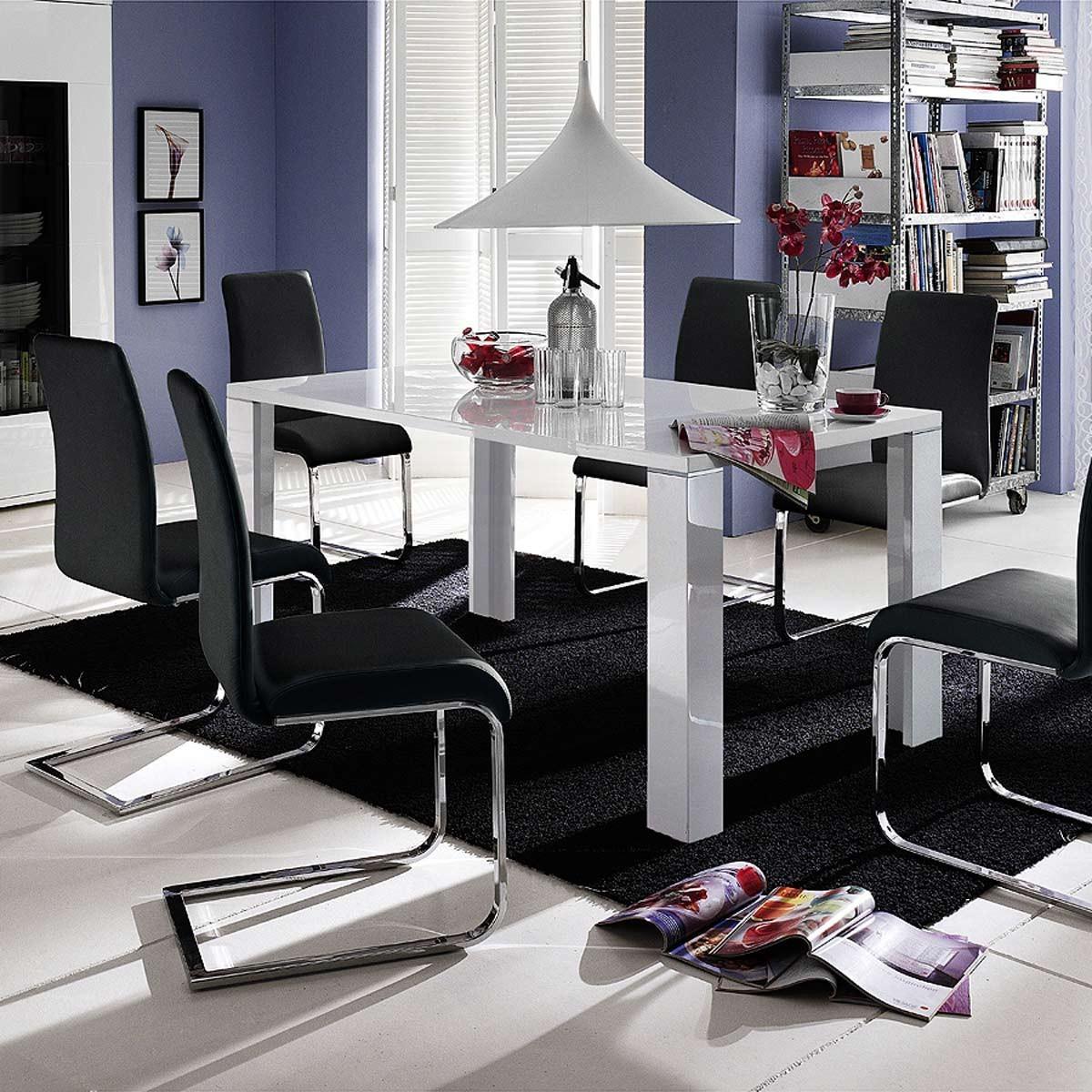 kuchentisch weis hochglanz die neuesten innenarchitekturideen. Black Bedroom Furniture Sets. Home Design Ideas