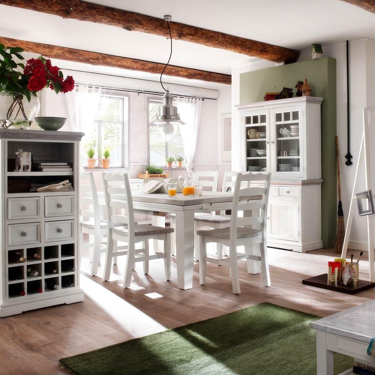 buffet opum 4 t ren in wei recycle kiefer massivholz. Black Bedroom Furniture Sets. Home Design Ideas