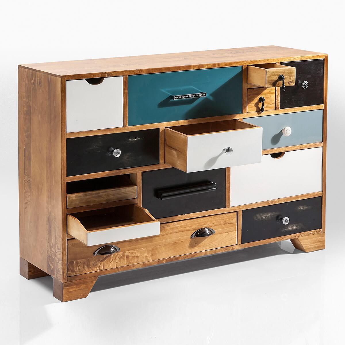 kommode babalou von kare design mit 14 schubladen in braun bunt. Black Bedroom Furniture Sets. Home Design Ideas