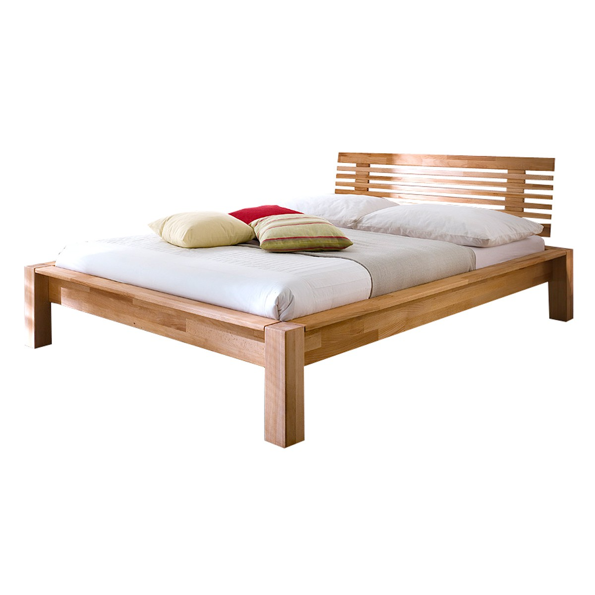 bett minas 140 x 200 cm in kernbuche massiv ge lt. Black Bedroom Furniture Sets. Home Design Ideas