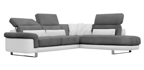 ecksofa grau weiss alaska b mini ecksofa eckcouch echtleder pu grau weiss with ecksofa grau. Black Bedroom Furniture Sets. Home Design Ideas