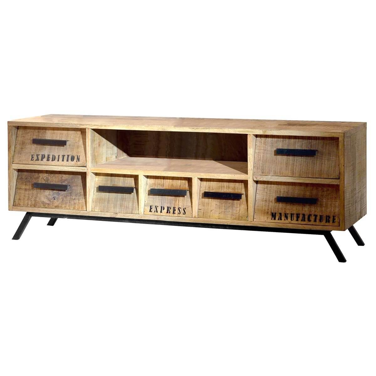 tv lowboard romsdal aus massivholz naturfarben. Black Bedroom Furniture Sets. Home Design Ideas
