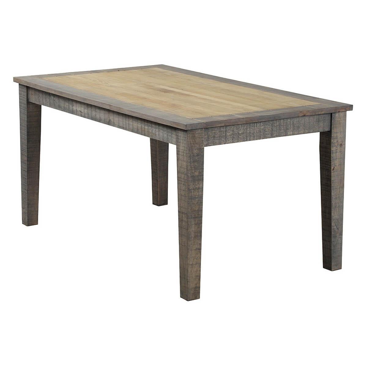 Esstisch taarbek 160x90 aus massivholz in beige braun for Esstisch aus massivholz