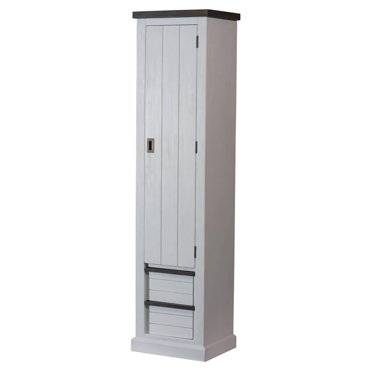 garderobenschrank dielenschrank schrank massivholz landhaus wei braun neu ebay. Black Bedroom Furniture Sets. Home Design Ideas
