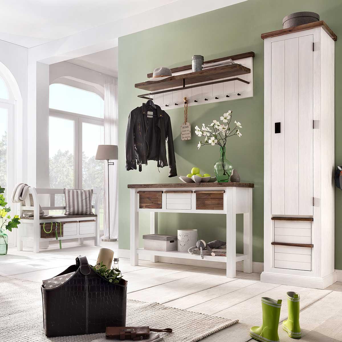 garderobenspiegel loft in akazie massiv wei braun. Black Bedroom Furniture Sets. Home Design Ideas