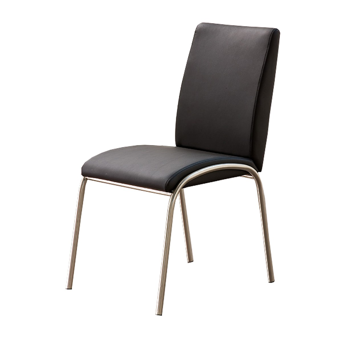 polsterstuhl manhattan 2er set in kunstleder schwarz. Black Bedroom Furniture Sets. Home Design Ideas