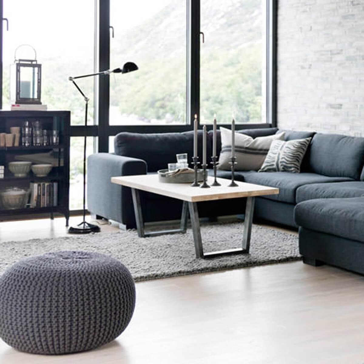 couchtisch calia eiche massiv geseift und geb rstet. Black Bedroom Furniture Sets. Home Design Ideas
