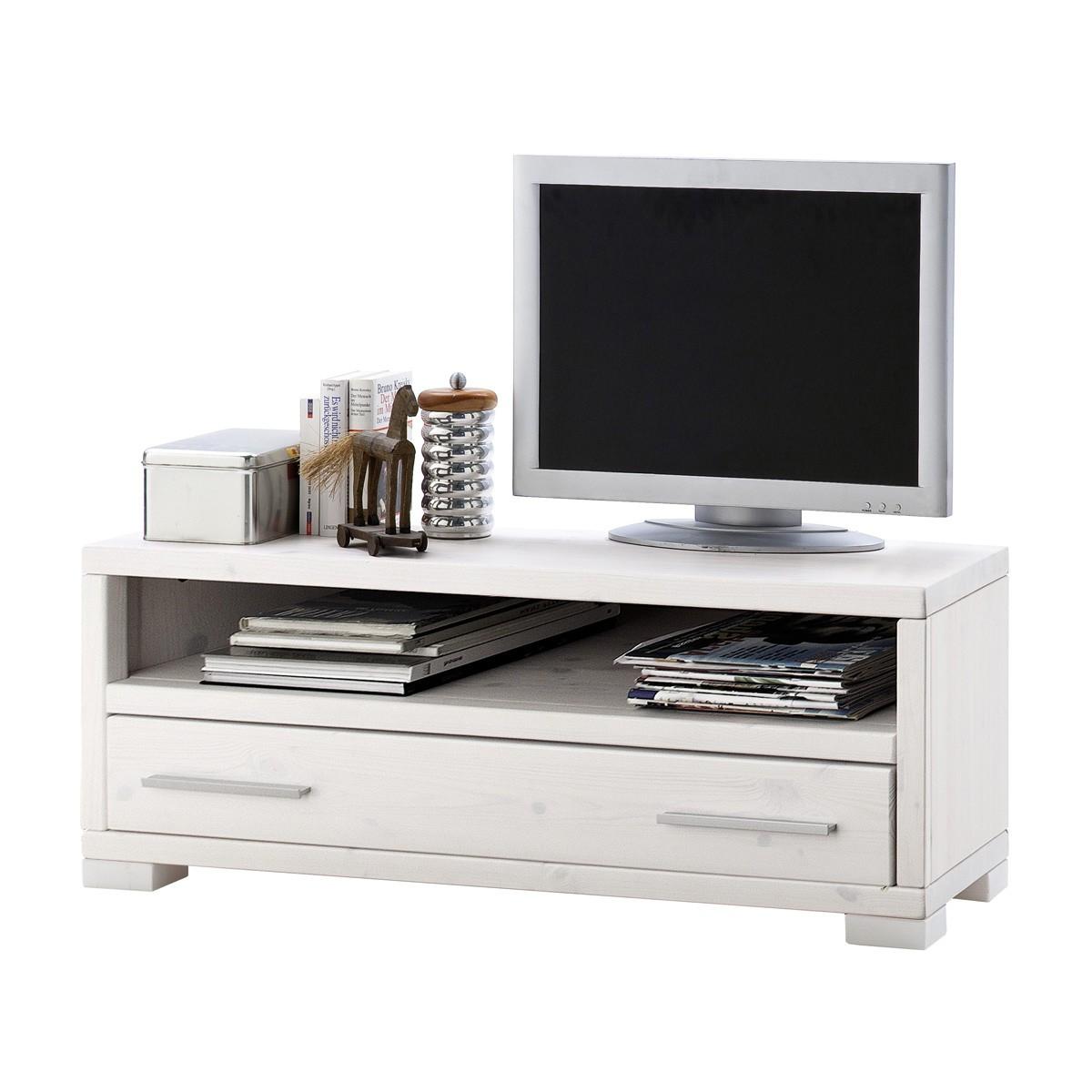 tv board madison in kiefer massivholz wei 120 cm. Black Bedroom Furniture Sets. Home Design Ideas