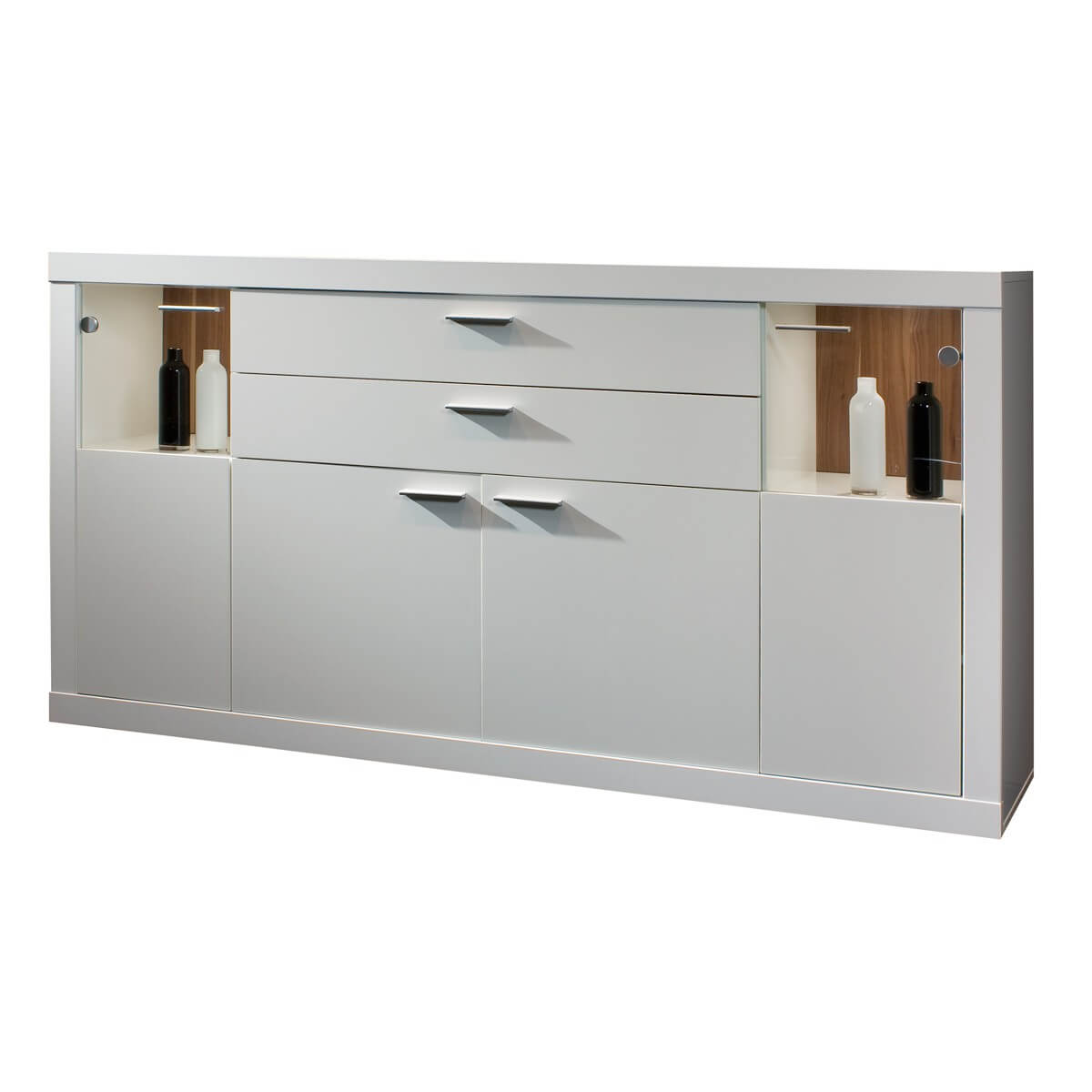 sideboard bianco in wei lackiert. Black Bedroom Furniture Sets. Home Design Ideas