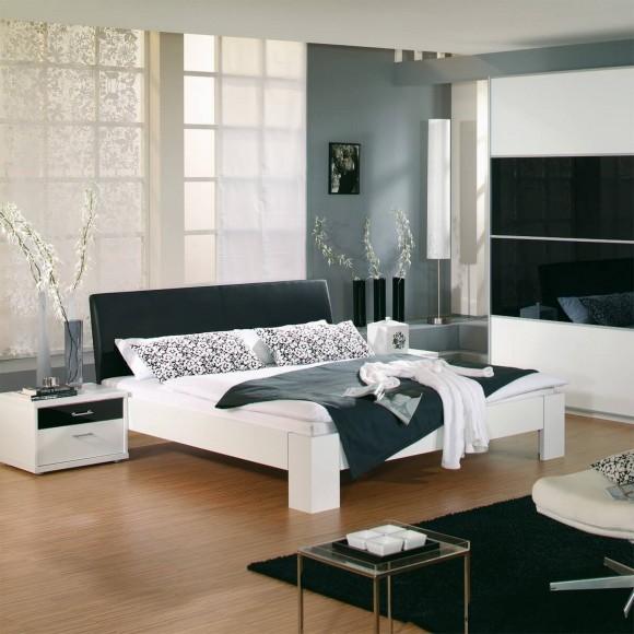 nachtkonsole till aus kunstleder in schwarz. Black Bedroom Furniture Sets. Home Design Ideas