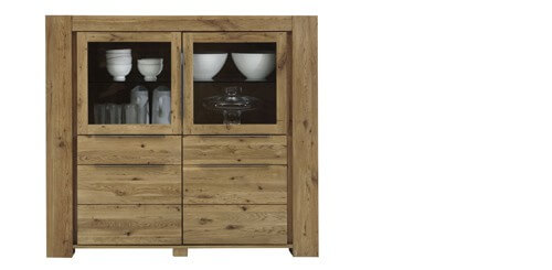 Highboard Tomana in Wildeiche massiv geölt – Bild 5
