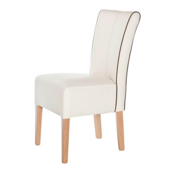 Polsterstuhl esszimmerstuhl stuhl esszimmer kunstleder for Stuhl weiss kunstleder