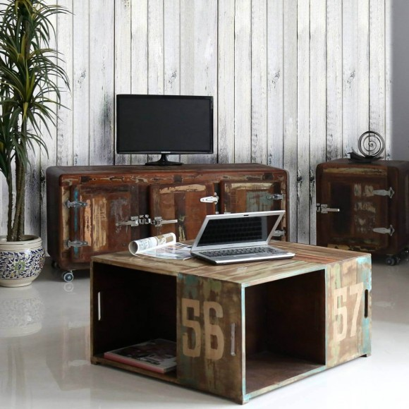 kommode svelvik aus massivholz und metall bunt. Black Bedroom Furniture Sets. Home Design Ideas