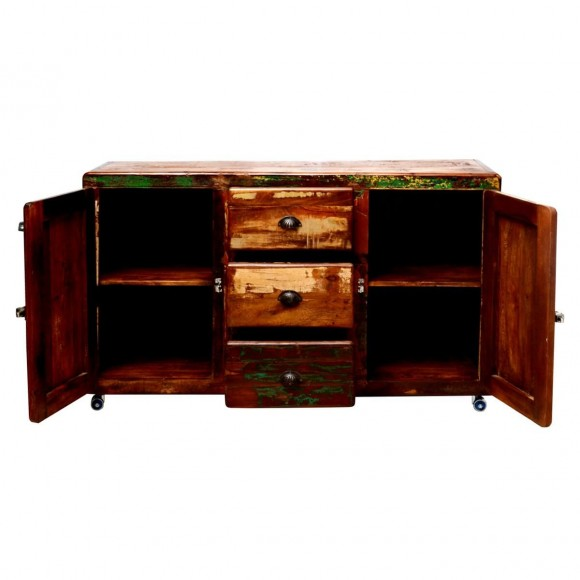 sideboard nedre aus massivholz bunt. Black Bedroom Furniture Sets. Home Design Ideas