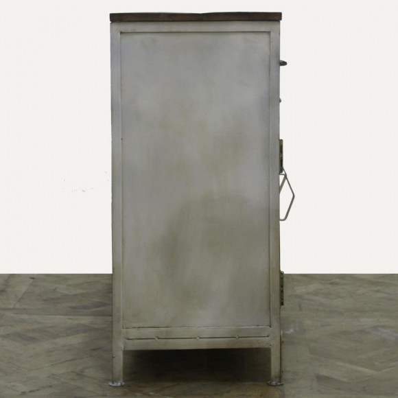 kommode lenvig aus metall und massivholz. Black Bedroom Furniture Sets. Home Design Ideas