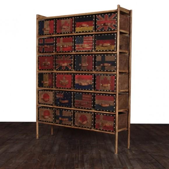 sideboard hurum aus metall und massivholz bunt. Black Bedroom Furniture Sets. Home Design Ideas