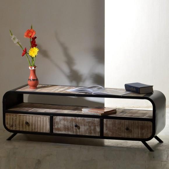 tv board romsdal aus massivholz naturfarben. Black Bedroom Furniture Sets. Home Design Ideas