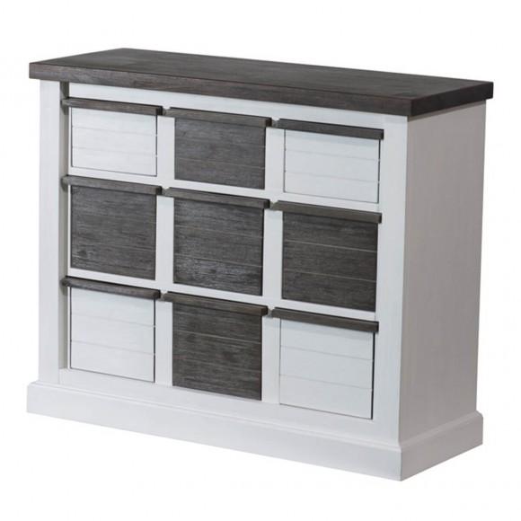 sideboard lyron in akazie massiv wei braun 175 cm. Black Bedroom Furniture Sets. Home Design Ideas