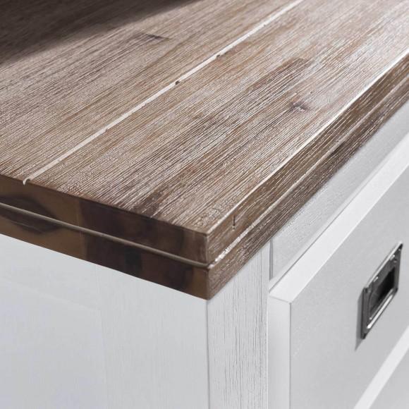 tv lowboard in wei braun 120 cm aus akazie massivholz tv. Black Bedroom Furniture Sets. Home Design Ideas