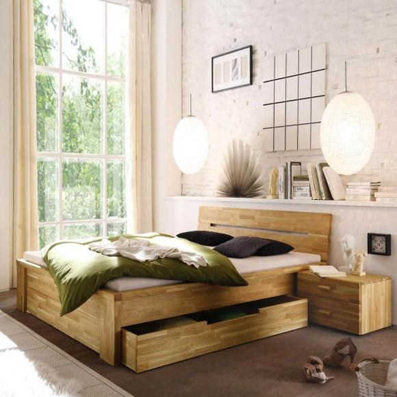 bett 200x200 mit schubladen bett roros 200x200 mit schubladen in kernbuche massiv ge lt bett. Black Bedroom Furniture Sets. Home Design Ideas