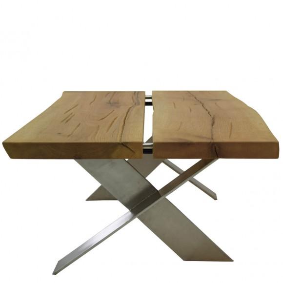 couchtisch eiche metall neuesten design. Black Bedroom Furniture Sets. Home Design Ideas