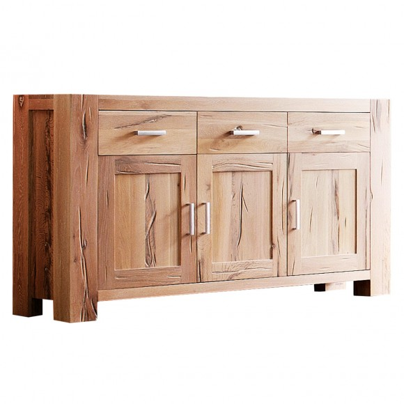 sideboard braxton kommode eiche massiv natur ge lt schrank wildeiche 171 cm ebay. Black Bedroom Furniture Sets. Home Design Ideas