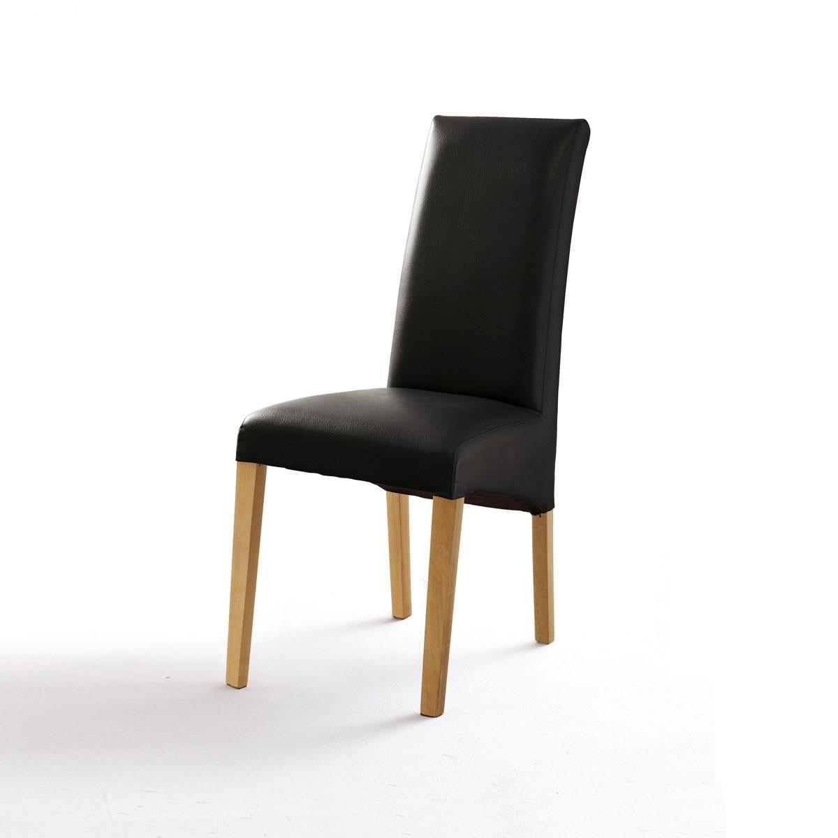 polsterstuhl foxi 2er set in kunstleder schwarz buche. Black Bedroom Furniture Sets. Home Design Ideas